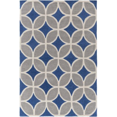 Kroeker Royal Blue/Gray Area Rug Rug Size: Rectangle 5 x 76