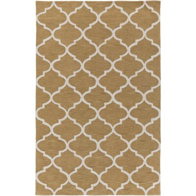 Cleaves Tan/Ivory Area Rug Rug Size: Rectangle 5 x 76