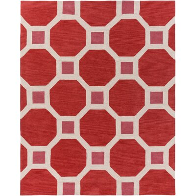 Wyche Coral Area Rug Rug Size: Rectangle 76 x 96