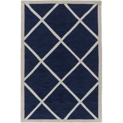 Cleitus Navy/Ivory Area Rug Rug Size: Rectangle 5 x 76