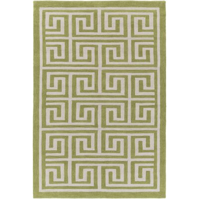 Ortis Moss & Ivory Area Rug Rug Size: Rectangle 5 x 76