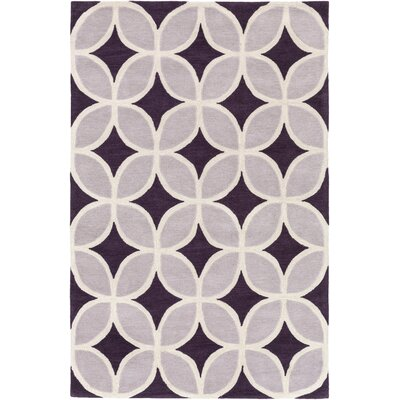 Kroeker Purple & Gray Area Rug Rug Size: Rectangle 5 x 76