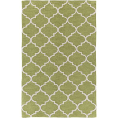 Cleaves Moss/Ivory Area Rug Rug Size: Rectangle 5 x 76