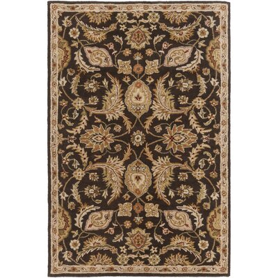 Philips Brown Area Rug Rug Size: Round 8
