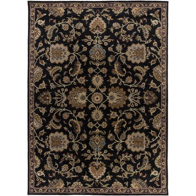 Philpott Black Area Rug Rug Size: Rectangle 76 x 96