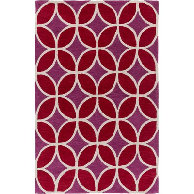 Kroeker Red/Fuchsia Area Rug Rug Size: Rectangle 76 x 96