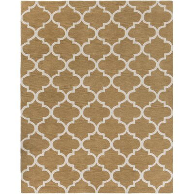 Cleaves Tan/Ivory Area Rug Rug Size: Rectangle 76 x 96
