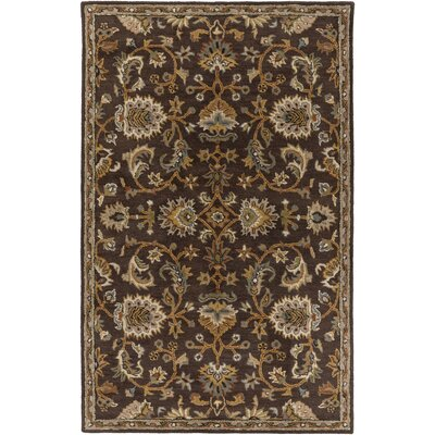Philpott Brown Area Rug Rug Size: Round 6
