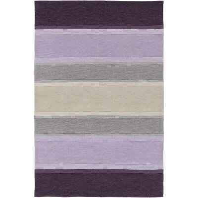 Holden Olive Purple Area Rug Rug Size: 5 x 76