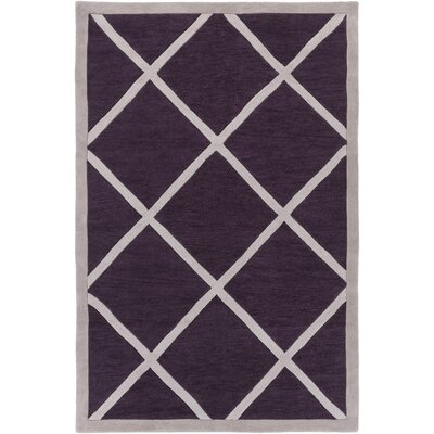 Cleitus Purple/Ivory Area Rug Rug Size: Rectangle 5 x 76