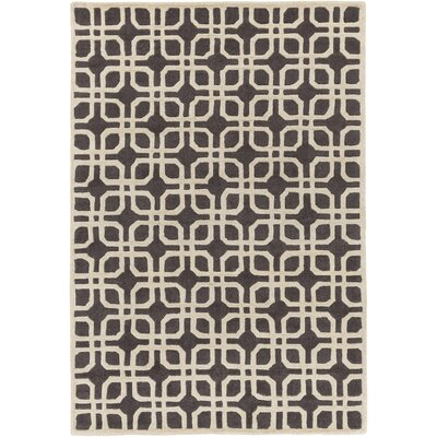 Murrah Gray & Ivory Area Rug Rug Size: Rectangle 6 x 9