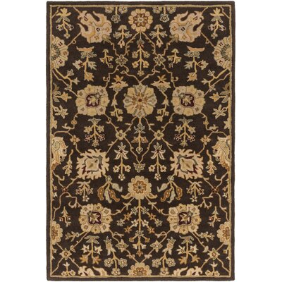 Dutil Brown Area Rug Rug Size: Round 6