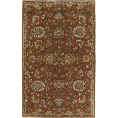Middleton Mallie Rust Area Rug Rug Size: 3 x 5
