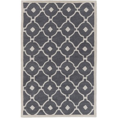 Kroeger Gray/Ivory Area Rug Rug Size: Rectangle 5 x 76