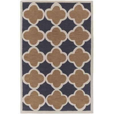 Holden Maisie Charcoal/Rust Area Rug Rug Size: 5 x 76