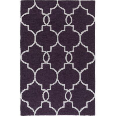 Hellwig Purple/Ivory Area Rug Rug Size: Rectangle 5 x 76