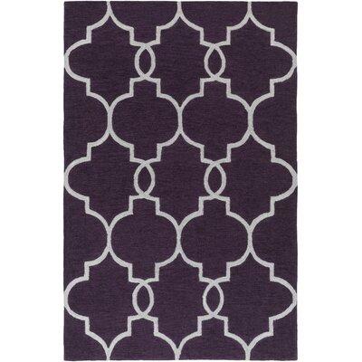 Holden Mattie Purple/Ivory Area Rug Rug Size: 5 x 76
