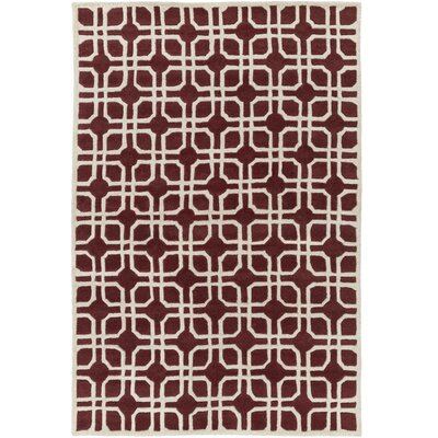 Transit Madison Red/Ivory Area Rug Rug Size: 76 x 96