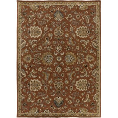 Middleton Mallie Rust Area Rug Rug Size: 76 x 96