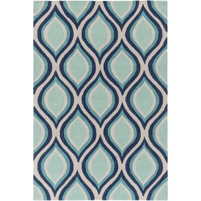 Youngberg Teal Area Rug Rug Size: Rectangle 5 x 76