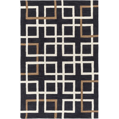 Petra Charcoal Area Rug Rug Size: Rectangle 76 x 96
