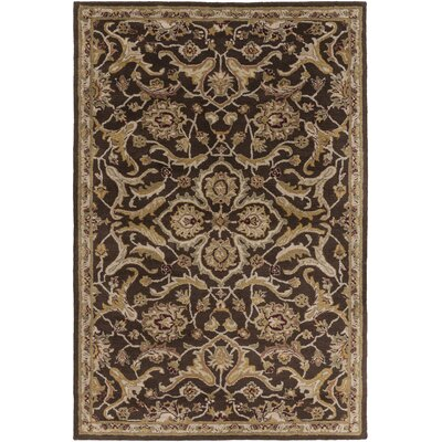 Middleton Ava Brown Area Rug Rug Size: Round 8