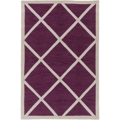Cleitus Fuchsia/Ivory Area Rug Rug Size: Rectangle 5 x 76