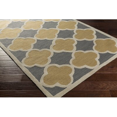 Corson Gray/Tan Area Rug Rug Size: Rectangle 5 x 76