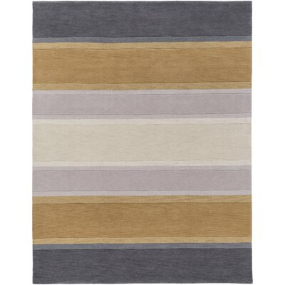 Holden Olive Charcoal Area Rug Rug Size: 76 x 96
