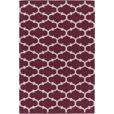 Ayles Purple/Ivory Area Rug Rug Size: Rectangle 3 x 5