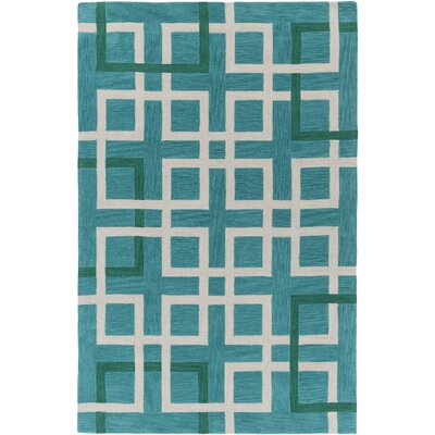 Petra Teal Area Rug Rug Size: Rectangle 76 x 96