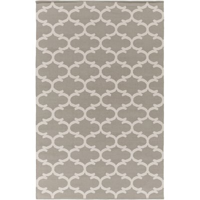 Ayles Gray & Ivory Area Rug Rug Size: Rectangle 4 x 6