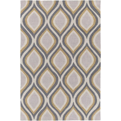 Youngberg Gray Area Rug Rug Size: Rectangle 5 x 76