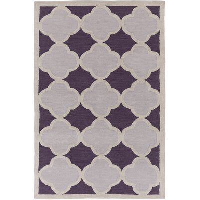 Corson Purple/Gray Area Rug Rug Size: Rectangle 5 x 76