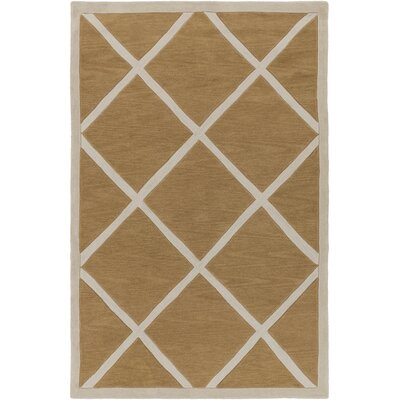 Cleitus Burnt Orange/Ivory Area Rug Rug Size: Rectangle 5 x 76