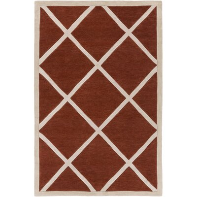 Cleitus Rust/Ivory Area Rug Rug Size: Rectangle 5 x 76