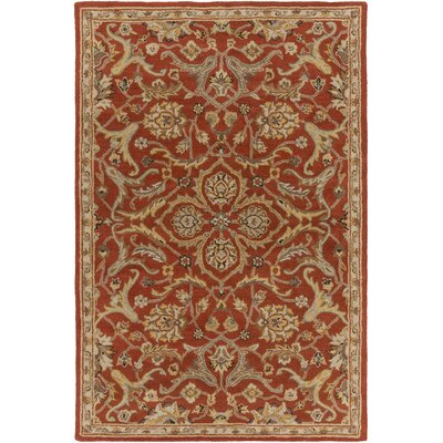 Middleton Ava Rust Area Rug Rug Size: 3 x 5