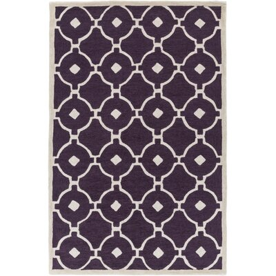 Kroeger Purple & Ivory Area Rug Rug Size: Rectangle 5 x 76