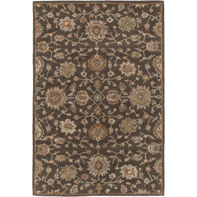Dyal Brown Area Rug Rug Size: Rectangle 76 x 96