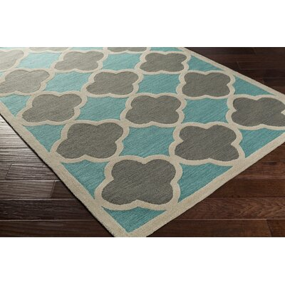 Corson Teal/Gray Area Rug Rug Size: Rectangle 5 x 76