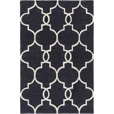 Hellwig Charcoal/Ivory Area Rug Rug Size: Rectangle 5 x 76