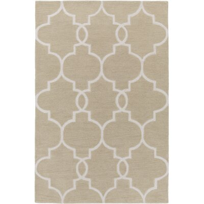 Hellwig Beige/Ivory Area Rug Rug Size: Rectangle 5' x 7'6