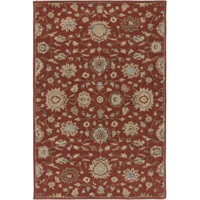 Dyal Rust Area Rug Rug Size: Rectangle 76 x 96