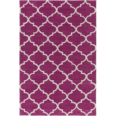 Cleaves Fuchsia/Ivory Area Rug Rug Size: Rectangle 5 x 76