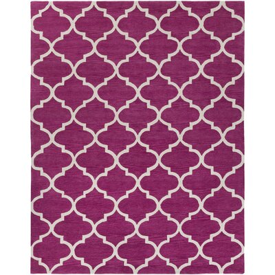 Cleaves Fuchsia/Ivory Area Rug Rug Size: Rectangle 76 x 96