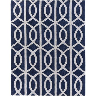 Holden Zoe Navy/Ivory Area Rug Rug Size: 76 x 96