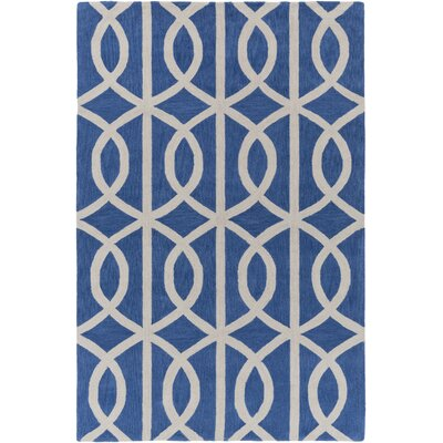Holden Zoe Royal Blue/Ivory Area Rug Rug Size: 5 x 76