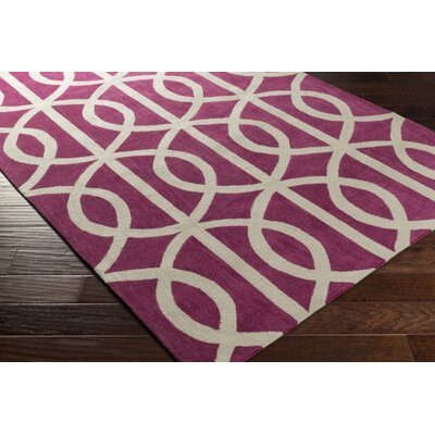 Gingrich Fuchsia & Ivory Area Rug Rug Size: Rectangle 76 x 96