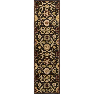 Phair Hand-Tufted Chocolate Brown Area Rug Rug Size: Runner 23 x 14