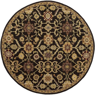 Phair Hand-Tufted Chocolate Brown Area Rug Rug Size: Round 36